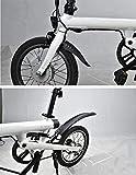 Hunpta@ pour Xiaomi Mijia Qicycle EF1,Étagère de Garde-Boue Avant arrière pour vélo électrique vélo Xiaomi Mijia Qicycle EF1 (Noir)