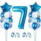 Globo de Cumpleaños 7 año, Globo 7 Año, 7 Cumpleaños Niño, Globo Numero 7 Gigantes, 7 Años Cumpleaños, Globos Decoracion Cumpleaños