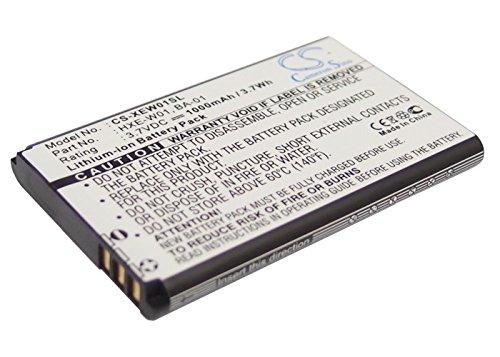 1000mAh Battery Replacement for Qstarz BT-1000X BT-Q810 BT-Q818X HXE-W01 3.7V