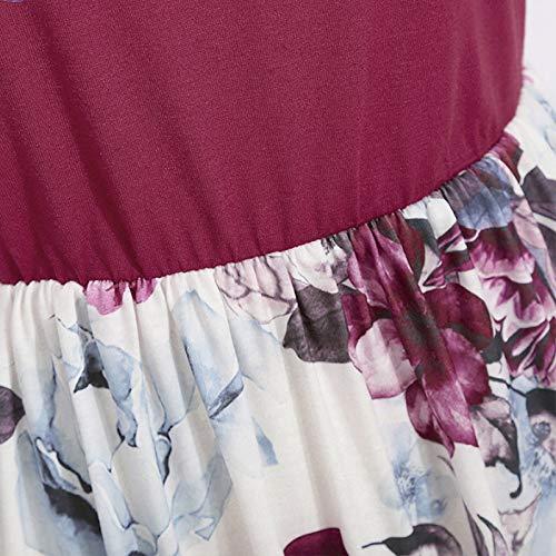 Vestido maxi de verano para madre e hija, cuello redondo, sin mangas, línea A, vestido de playa, vestido de fiesta, una variedad de estilos, tallas XS-XXL, borgoña, 1-2 Años