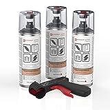 AUPROTEC Rostschutz Spray AUPRORUST Active Roststopp Grundierung Anti Rostspray Auto Primer Spray 3X 400ml + 1x Original Pistolengriff