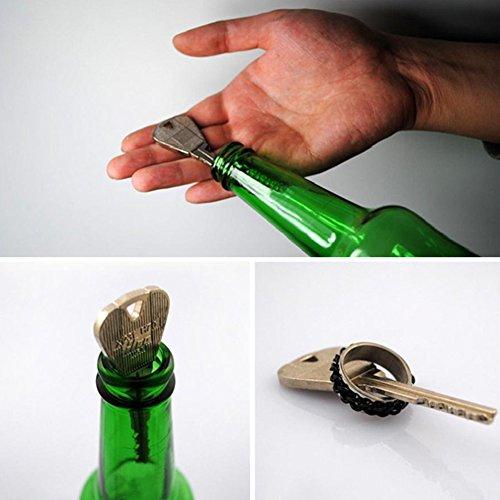 Yimosecoxiang Einfaches Rätsel-Kinderspielzeug, faltbarer Schlüssel für Flaschen-Ring-Zaubertrick, Requisite, Werkzeug, Scherzartikel, mehrfarbig