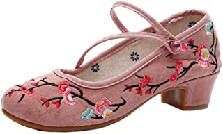 Fulision Female Retro Chinese Style Floral Pattern Embroidered Cloth Shoes