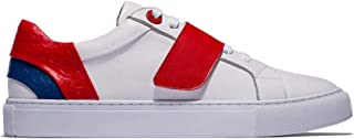 OPP Men's Casual Leather Sneaker Energy Velcro Hook and Loop Shoes