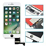 passionTR LCD Screen Replacement Compatible with iPhone 7 4.7 Inch White Digitizer Assembly Display with Frame Set and Tool Kits