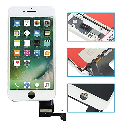Pantalla LCD de repuesto compatible con iPhone 7 Plus de 5,5 pulgadas, digitalizador de pantalla, cristal frontal completo con...
