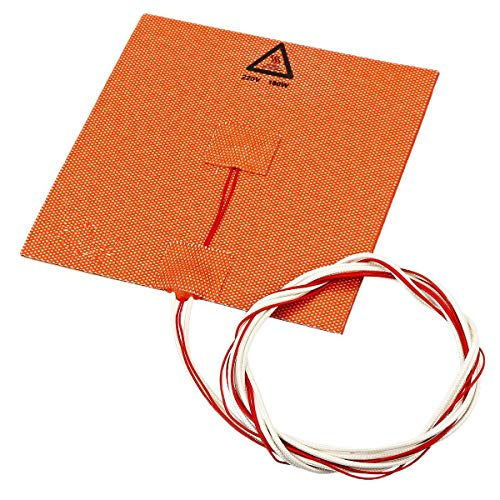 Printer Accessories 110V/220V 180w 150 * 150mm Silicone Heated Bed Heating Pad for 3D Printer with NTC 100K & Glue (Color : 110V)
