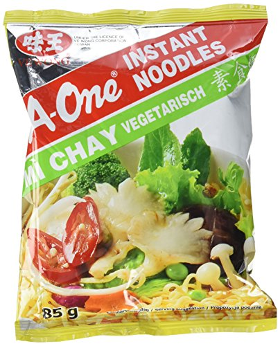 A-ONE Instantnudeln, Vegetarisch, 30er Pack (30 x 85 g Packung)