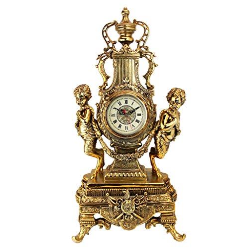 Design Toscano KY026 Orologio Grande Château Beaumont, Oro, 21.5x30.5x61 cm