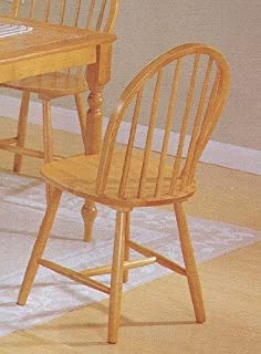 Acme Furniture Set of 4 Oak Finish Windsor Country Style Wood Dining Chair/Chairs
