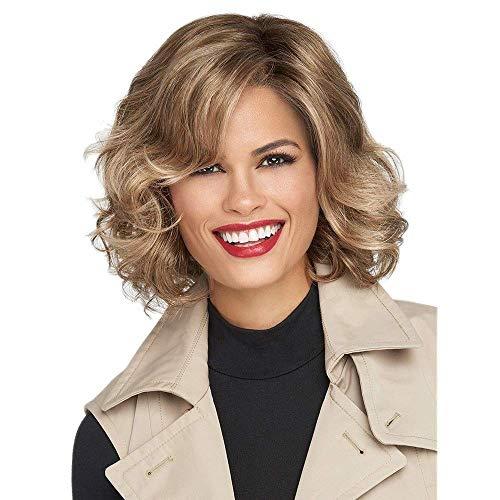 NBVCX Inicio Accesorios Lady Full Wig Peluca Mujeres Damas Corto Gold Cury Hair Blonde Full Sintético Cosplay Navidad