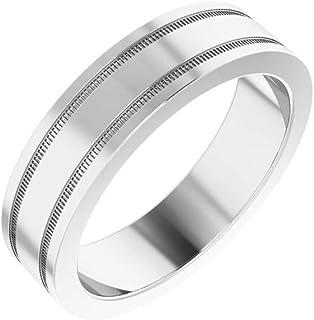 Size 10.5 Bonyak Jewelry 10k Rose Gold 3 mm Flat Edge Comfort-Fit Band