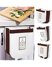 キッチンキャビネットのドア用のゴミ箱をぶら下げ、折りたたみ可能なゴミ箱キャビネットのドアに取り付けられた小さなコンパクトなゴミ箱キッチン引き出し寝室