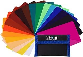 Selens 20 Pieces Universal Gels Lighting Filter Kit for Camcorder LED Video Light,..