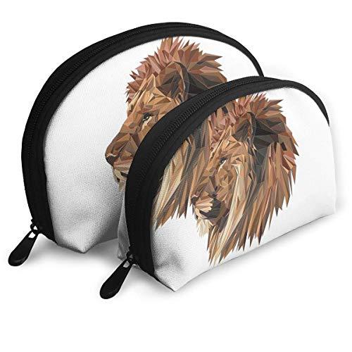 Portable Shell Makeup Storage Bags Cool Geometry Lion Art Travel Waterproof Toiletry Organizer...