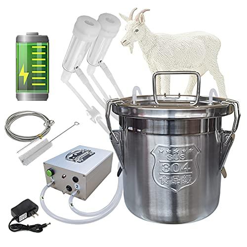 Hantop 6L Goat Milking Machine, Portable Pulsation...