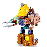 Plants Vs Zombies Toys,5 PCS PVZ Figures, Plants vs. Zombies 2,Five in One Mecha Zombie Boss,Non-Toxic Dolls, Environmentally Friendly PVC, Desk Game Toys,Great Gifts for Kids