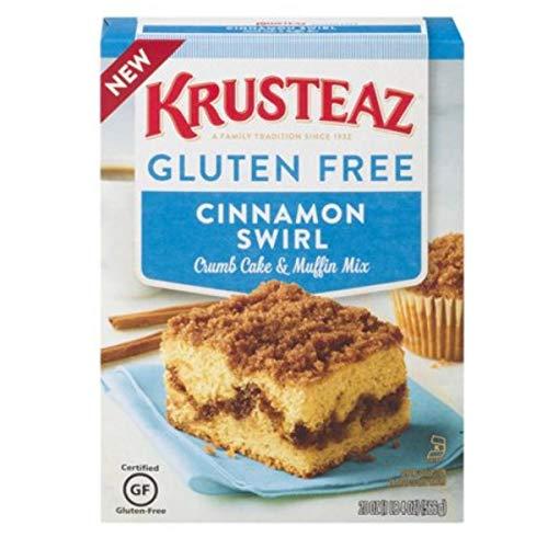 Krusteaz Gluten-Free Cinnamon Crumb Cake Mix, 20-Ounce Box (Pack of 12)