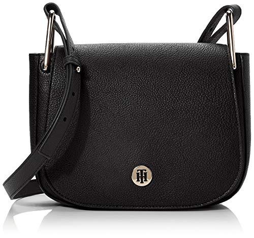 Tommy Hilfiger Th Core Saddle Bag, Borse Donna, Nero (Black), 1x1x1 centimeters (W x H x L)