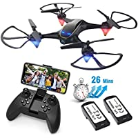 Eachine E38 Wifi FPV Quadcopter Drone with Camera, 2-Batteries