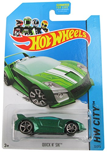 Hot Wheels 2014 Speed Team Hw City Green Quick N' Sik 32/250 by Hot Wheels