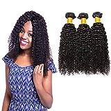 LVY extensiones de cabello natural 8A pelo natural humano cabello brasileño virgen pelo humano rizado 3 paquetes 16 18 20 pulgada 100% extensiones pelo natural