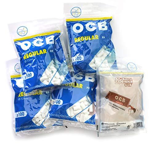 OCB Regular Size Cigarette Filter Tips - 5 x100 Filters