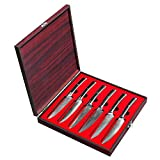 Sunnecko Coltello da Cuoco 8 Pollici Coltello da Cucina Professionale 20cm Coltello da Taglio Giapponese Damasco - Lama Affilata e Anticorrosione