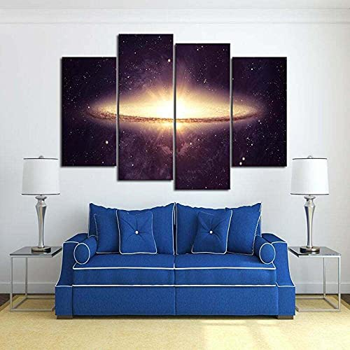 MMSY 5 Panel Wall Art Big Bang Scenery Painting The Picture Print On Canvas Pictures For Home Decor Piece Stretched By Wooden Frame Ready To Hang