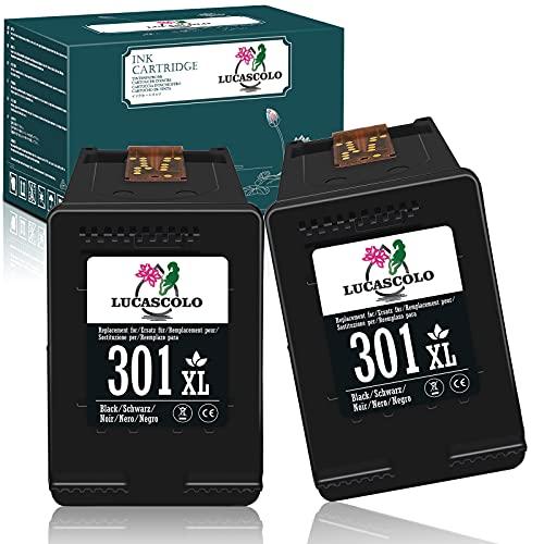 LUCASCOLO Cartucho de tinta remanufacturado para HP 301XL 301 XL Uso con HP Deskjet 1000 2050 2510 2540 3000 3050 3052A Envy 5530 4500 4507 5532 4502 5534 539 Oficial ejet 2620 2622 4630 4632(2 Negro)