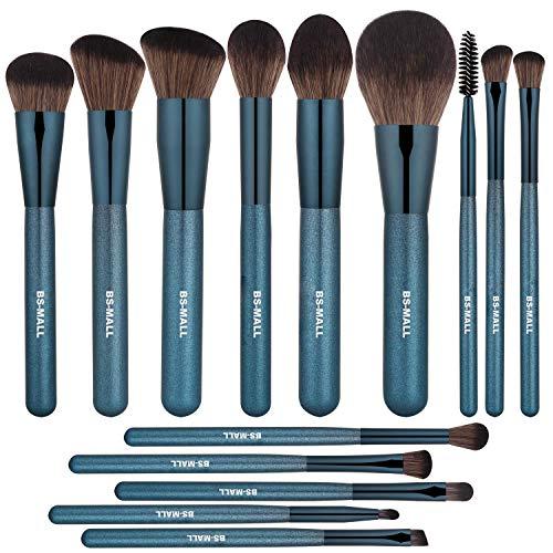 BS-MALL Makeup Brush Set 14Pcs Premium Synthetic Professional Makeup...