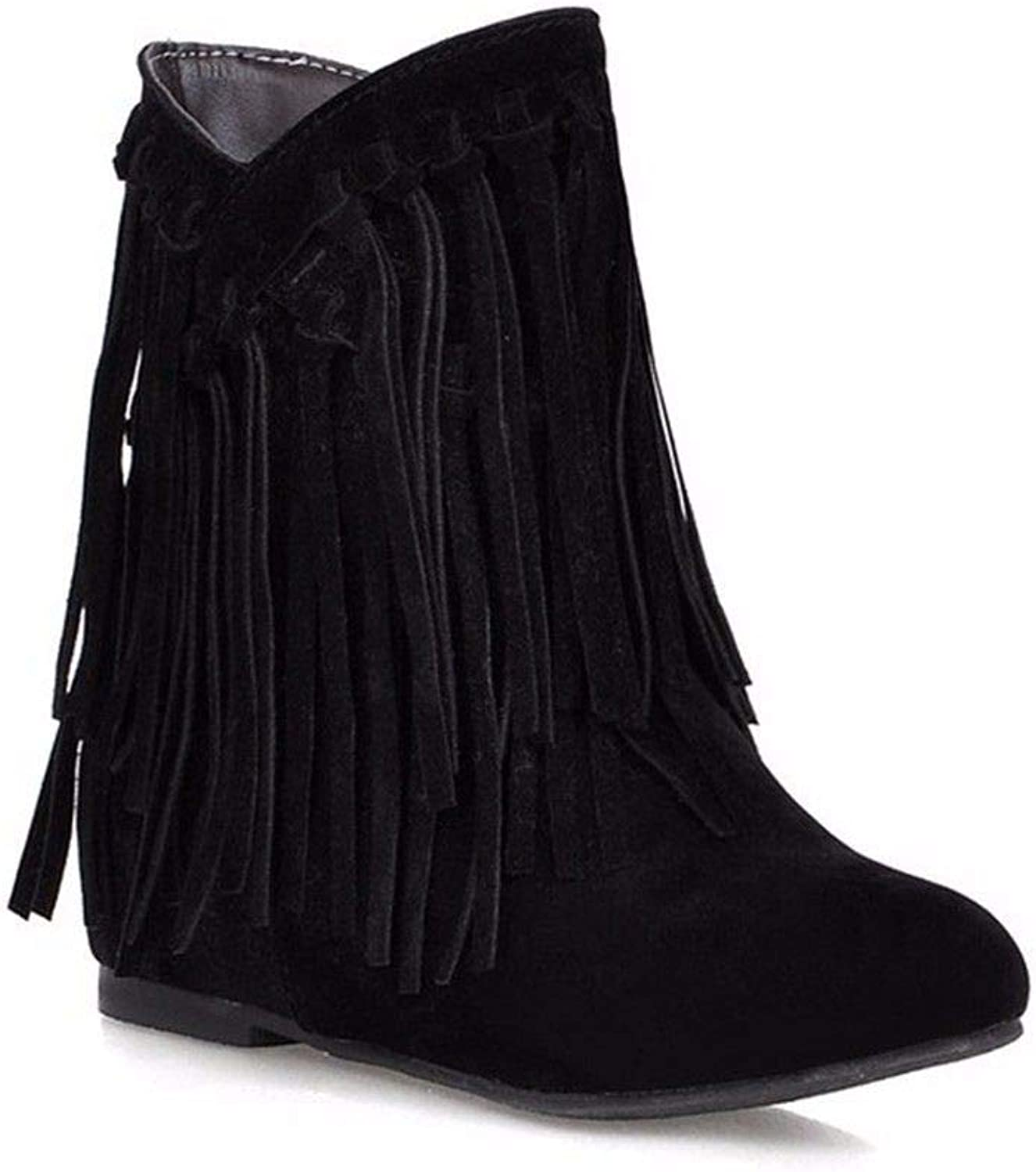 European and American Women's Korean Version of Tassel Boots