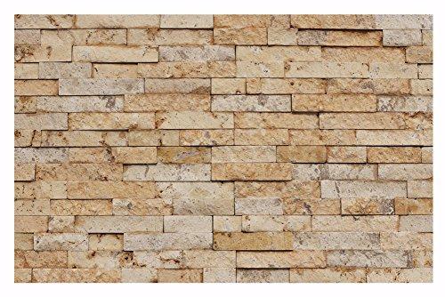 1 Muster W-014 Travertin Gold Wand-Design Verblender Steinwand Naturstein Fliesen Lager Verkauf Stein-Mosaik Herne NRW