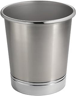 Amazoncom Brushed Nickel Trash Can For Bathroom