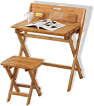 Yxsd Multi-Function Children's Study Table and Stool Set,Foldable Writing Desk Computer Desk and Chair,Homework Table Kids...