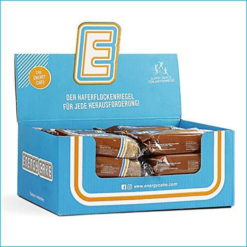 Energy Cake – Fitness Oat Snack Oatmeal Haferriegel – der Sattmacher & Energielieferant mit Protein aus der Haferflocke & unglaublichen Geschmack – Hafer/Oat Fitness Snack - Cappuccino 24x 125g (3kg)