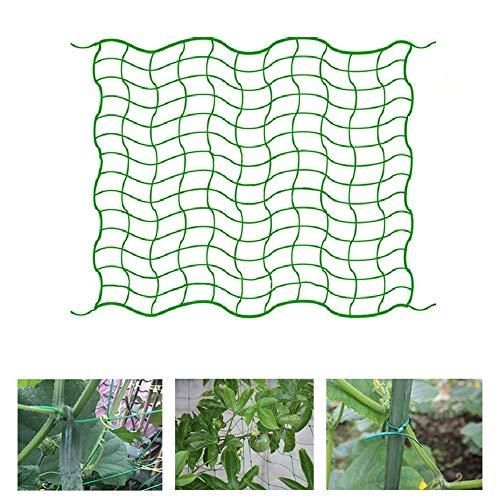 Souarts Gewächshaus Zubehör, Ranknetz Rankhilfe Netz mit Großer Maschenweite Gitter, Tomaten Gurken Kletterpflanzen Rankgitter Netz für Garten(1.8mx2.7m)