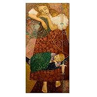 眠っている赤ちゃんとお母さんのキャンバスの絵画スカンジナビアドロップシッピングポスターとプリントCuadros装飾壁アートリビングルームの写真-50x150cmx1フレームなし