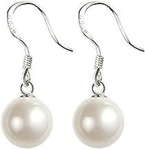 Best white pearl dangle earrings Reviews