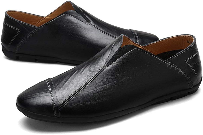 Versatile Men's shoes, Comfortable, Loafers Casual shoes, Peas shoes. (color   Black, Size   44)