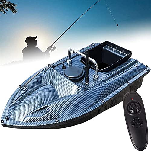HHORB Barco De Cebo De 500 M De Distancia, Posicionamiento GPS, Crucero Automático, Barco De Cebo De Pesca con Control Remoto con Motor Doble, 5200 Mah (Color : Blue)