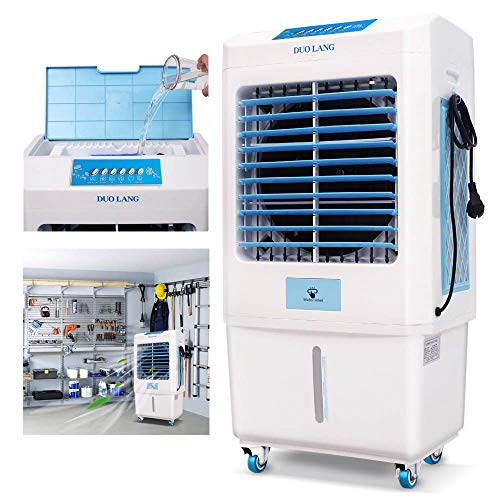 DUOLANG 2059 CFM Outdoor Indoor Portable Evaporative Cooler Swamp Cooler with Tower Fan & Air...