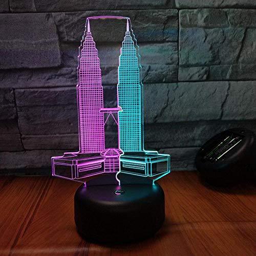 Led-nachtlampje voor in de auto, veel etages, met USB-aansluiting, 7 kleuren, met afstandsbediening, voor kinderen, volwassenen, verjaardagscadeau en party