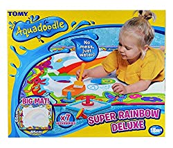 [official aquadoodle mat] aquadoodle is the #1 selling water doodle mat on amazon uk. produced with the highest quality materials and made to last. perfect gift for your toddler! [mess free drawing] fill the aquadoodle pen with water, run the nib ove...