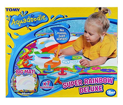 Aquadoodle Super Rainbow Deluxe Large Water Doodle Mat, Official TOMY No Mess Colouring & Drawing...