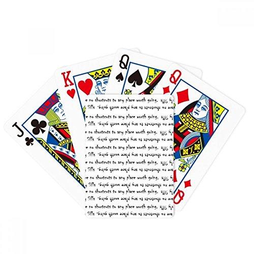 Cita inspiradora sobre el camino por Beverly Sills Poker jugando magia tarjeta juego de mesa divertido