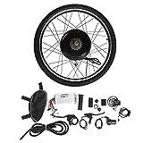 Dioche - Kit de conversión de bicicleta eléctrica para kit de conversión de motor de rueda delantera de bicicleta eléctrica, 48 V, 1000 W