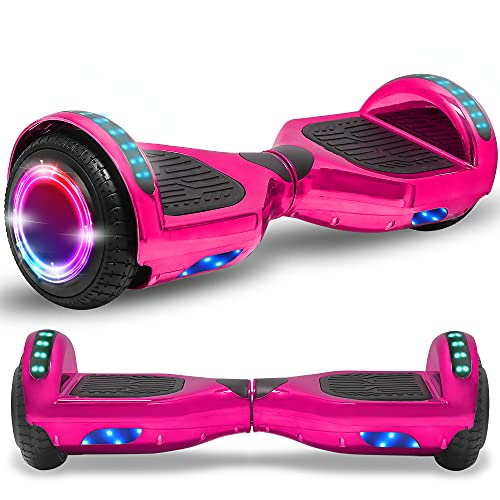 Beston Sports Newest Generation Electric Hoverboard Dual Motors Two Wheels Hoover Board Smart self Balancing Scooter with Built in Speaker LED Lights for Adults Kids Gift (SkyBlue)