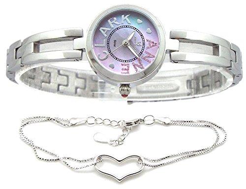 ソーラーパワー 光発電 電池交換不要 ハートブレス付 ANNE CLARK 腕時計 ピンクシェル レディース AU-1032-17 [並行輸入品]