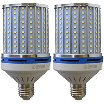 8 Pack 150W Metal Halide Equivalent 36W Corn LED Light Bulb with Rotating E26 Screw Base 4000K 4320 Lumens 180/° Commercial Led Bulb for Parking Lot Street or Flood Lighting Fixtures Wall Pack